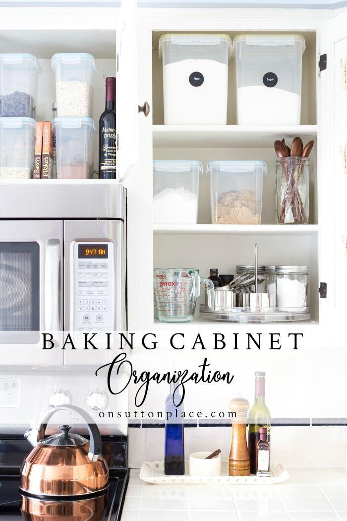 Baking Cabinet Organization Spice Storage Ideas Spice Storage