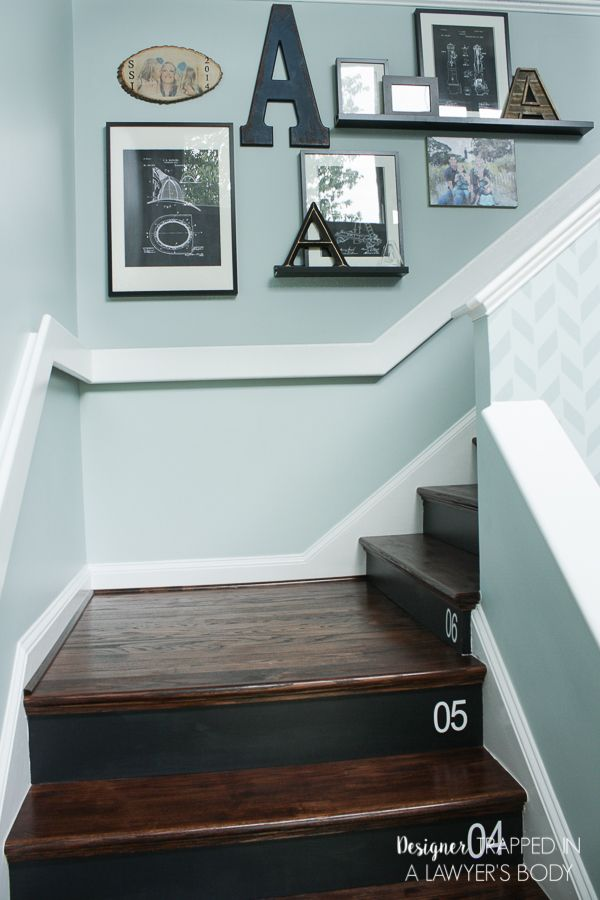 WOW, WOW, WOW! This DIY staircase makeover was accomplished in a weekend and…