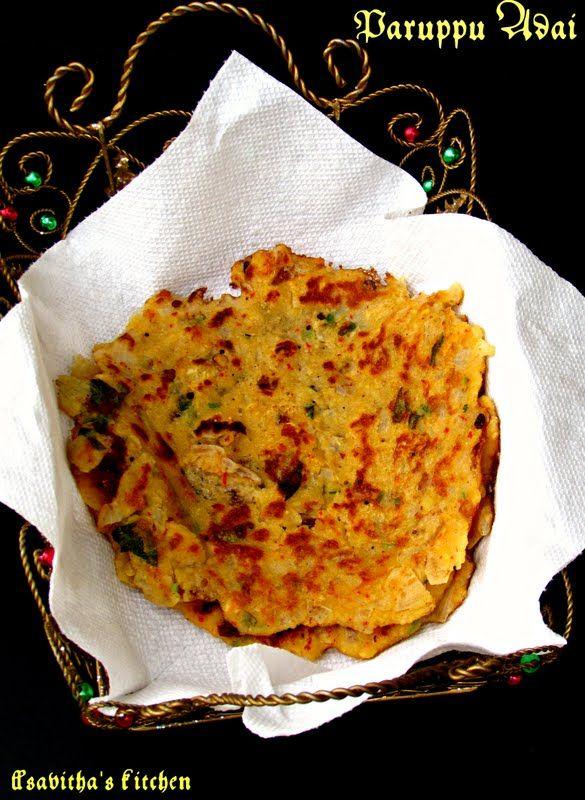 Lentil crepes or Parupu Adai - A crispy South Indian treat! @savithkitchen