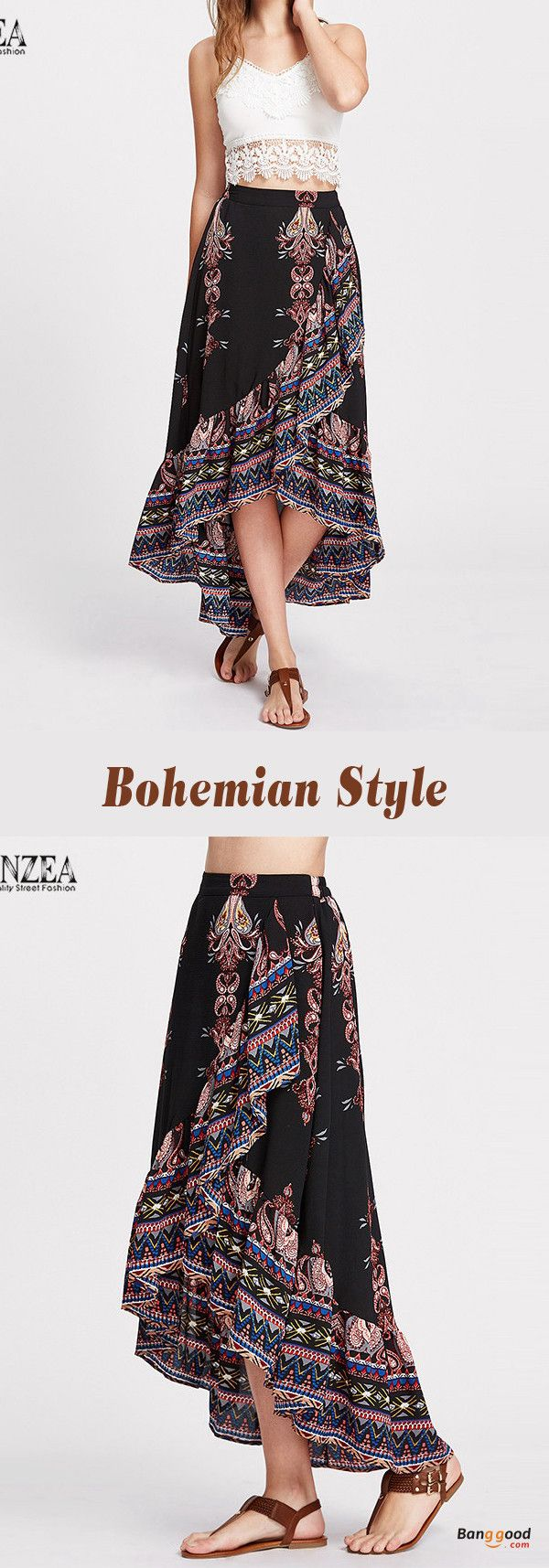 US$24.39+Free shipping. Size: M~5XL. Home or out, love this vintage and bohemian summer skirt. Women's Skirt, Long Skirt, Dresses Casual, Skirt for Teens, Summer Dresses, Summer Outfits, Retro Fashion, Skirt Outfit.