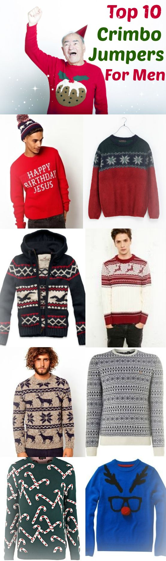 Top 10 Christmas Jumpers / Sweaters For Men. They are the perfect gift for Christmas Day. Take a look at them here http://www.totalswindon.com/shopping/top-10-mens-christmas-jumpers-2013/ #Christmas #Sweater