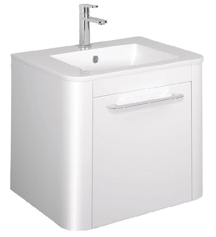 Celeste 600 Basin & Vanity Unit in White Gloss