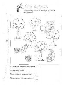«Η ελιά – το λάδι″ Δραστηριότητες και φύλλα εργασίας