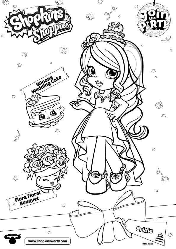 Free Printable Shopkins Shoppies Coloring Pages Trend