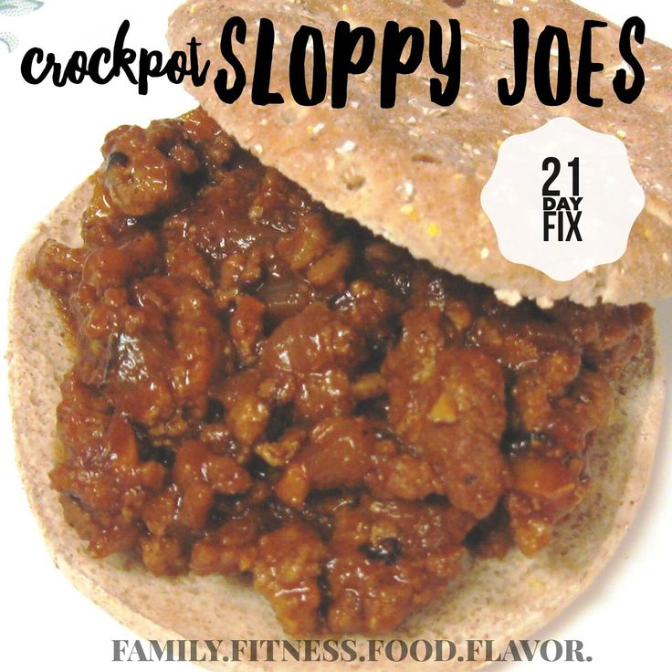 Family. Fitness. Food. Flavor. : Crockpot Sloppy Joes - 21 Day Fix Friendly!