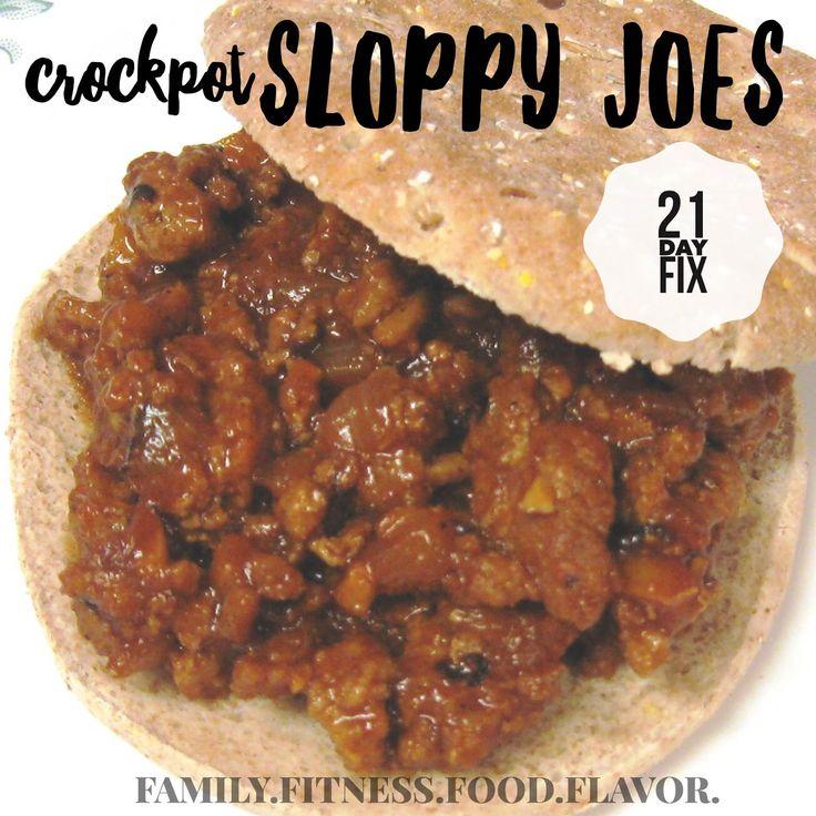 Family. Fitness. Food. Flavor. : Crockpot Sloppy Joes - 21 Day Fix Friendly!