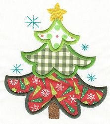 christmas tree applique 2 sizes christmas machine embroidery designs swakembroidery - Christmas Tree Applique