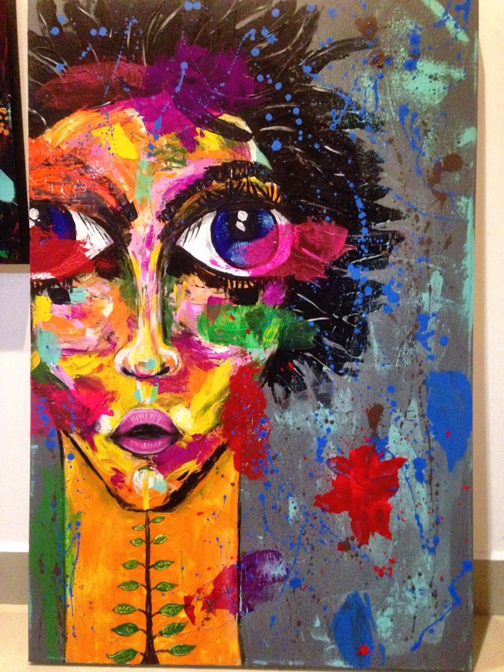 "Acrilico sobre tela. Acrylic on canvas 80 x 120 cm ""encantada"" #acrilico #acrylic #painting #art #encantada #eyes #bigeyes by rwise #original #monterrey #mexico"