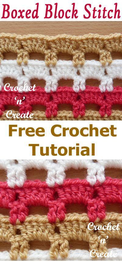 Crochet Boxed Block Stitch Tutorial – Ginny Adams