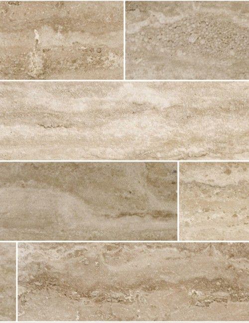"Desert Cream Imperial (Vein Cut) 4"" Travertine Planks – Floor ..."