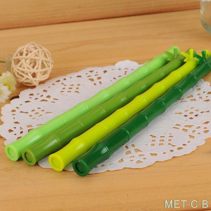 Encontrar Más Plumas de Gel Información acerca de C019 papelería creativa fresca verde de bambú de bambú bolígrafo de gel gel pluma, alta calidad pluma CEMERA, China pluma de la pared Proveedores, barato la pluma de CA de Met Clothing Boutique en Aliexpress.com