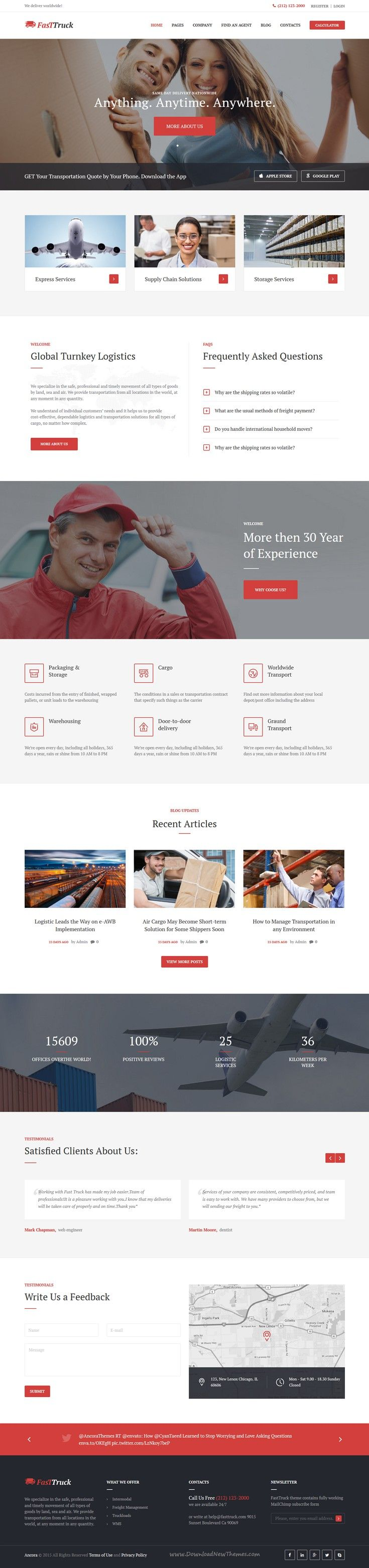 Fast Truck is a trendy #WordPress theme with premium #business design ideal for…
