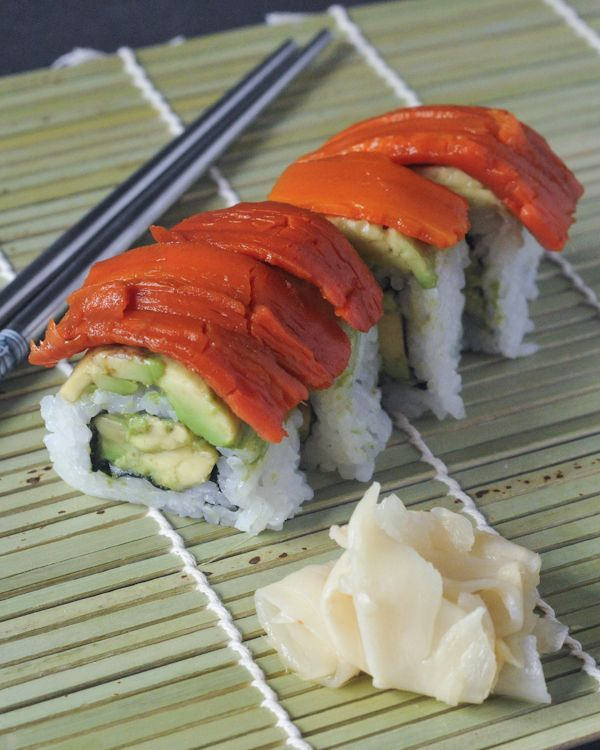 Whole Foods Vegetarian Sushi Roll Brown Rice