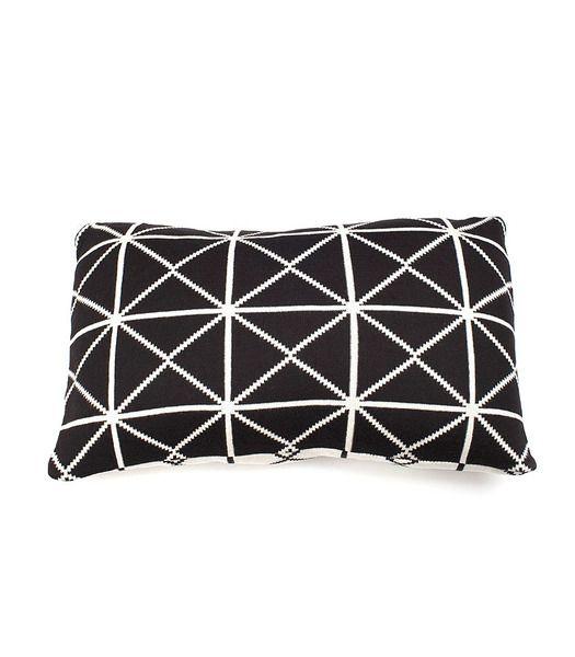 Indus Design Oxford Cushion Black/Natural   Krinkle Homewares & Gifts