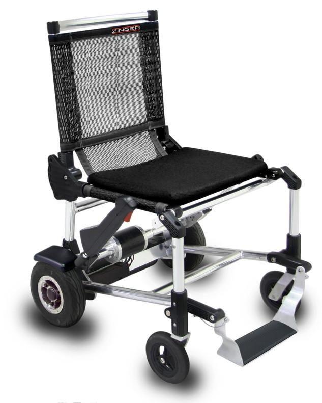 Zinger, una silla de ruedas eléctrica y plegable