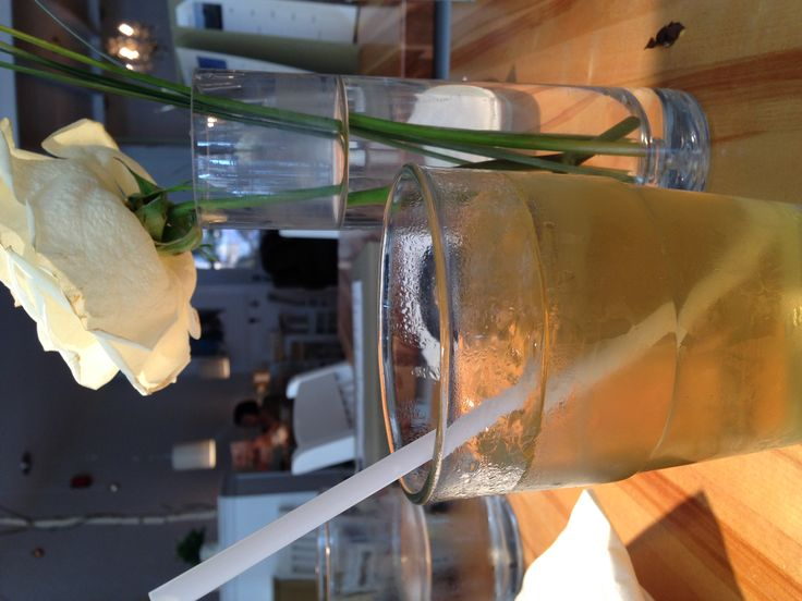 Iced Strawberry Green Tea at Leonhards Cafe.