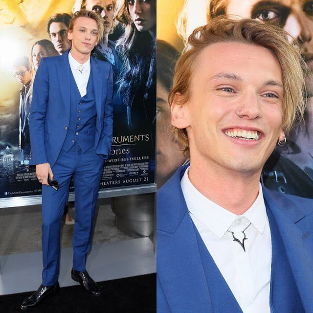 "Male Fashion Trends: Jamie Campbell Bower en Alexander McQueen – ""The Mortal Instruments: City Of Bones"" Los Angeles"