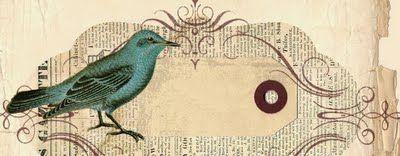 The Background Fairy: Blog Header - Vintage Newspaper with Bird - 3 Column