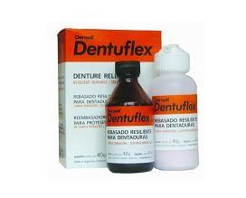 DENTUFLEX LARGA DURACIÓN • Para prótesis completas y parciales removibles • Ofrece confort al paciente en los tratamientos protéticos • Avío 40 ml líquido + 40 g polvo + accesorios - Cod 1355