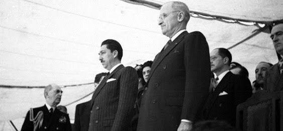 3 de marzo de 1947 Presidente Truman vista México. Fernanda Casas, Karime Mobayed, Ivonne Flores.