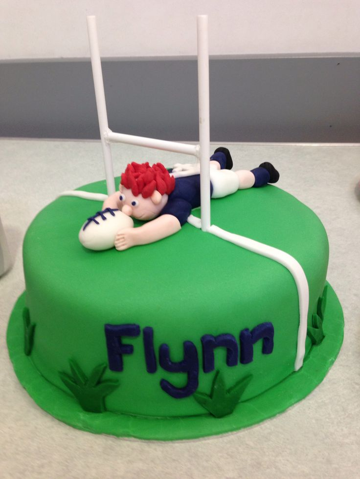 My boys 4th rugby themed cake.