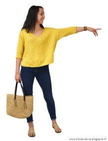 """Regardez les manches de mon pull """"Bambara"""" !!! Elles sont relevées directement sur les emmanchures et tricotées en rond. #ladroguerie"""