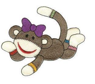 applique: Apply, Embroidery Pattern, Sock Monkey