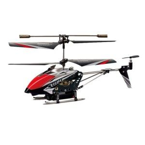 Syma Helicopter: Syma S107C Spycam 3.5 Channel RC Helicopter with Gyro If you're familiar with the Syma 107, this will feel very familiar, very stable and durable. The camera itself is extremely light and only affects flight on maintaining elevation.  http://awsomegadgetsandtoysforgirlsandboys.com/syma-helicopter/ Syma Helicopter: Syma S107C Spycam 3.5 Channel RC Helicopter with Gyro