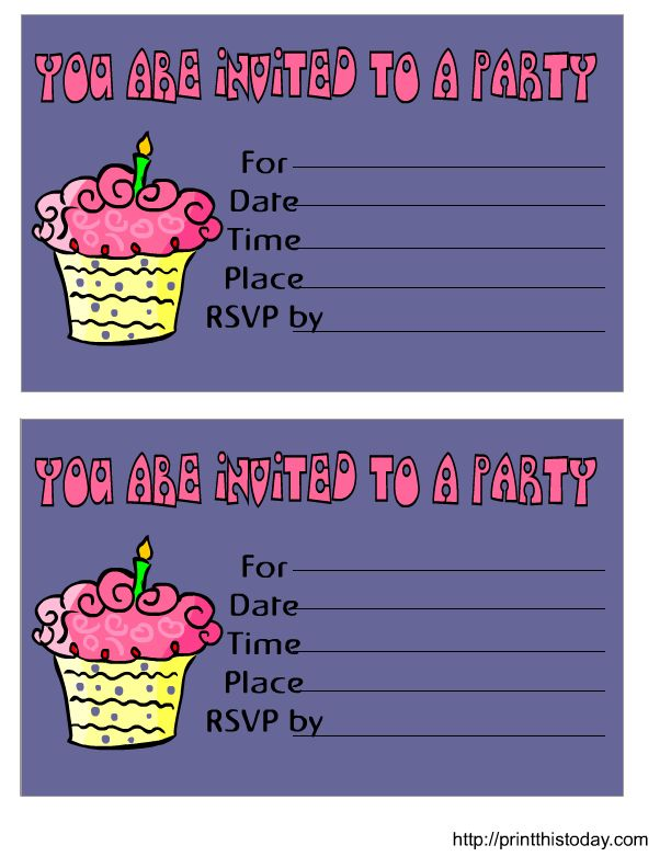 Unique Free Birthday Invitations Ideas On Pinterest Free - Birthday invitation in word
