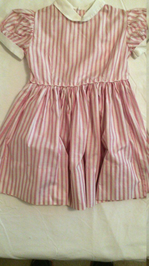 c12339999 Vintage UNUSED Little Girl Dress ~Size 5 ~ Factory Dress Samples ...