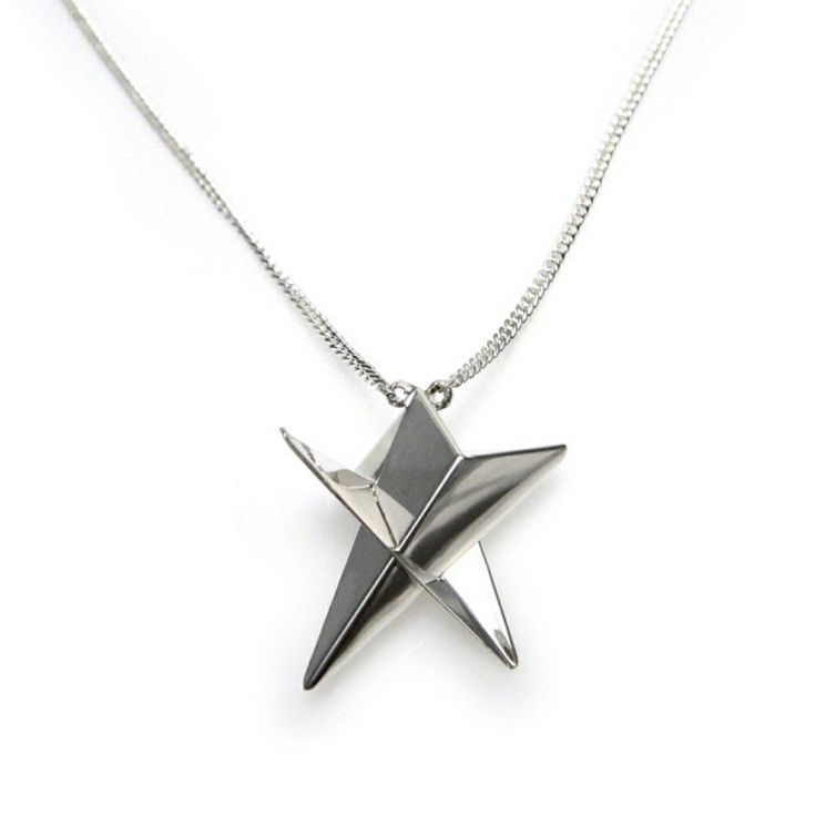 Small Star Necklace in Silver by YUKI MITSUYASU on Haystakt.com