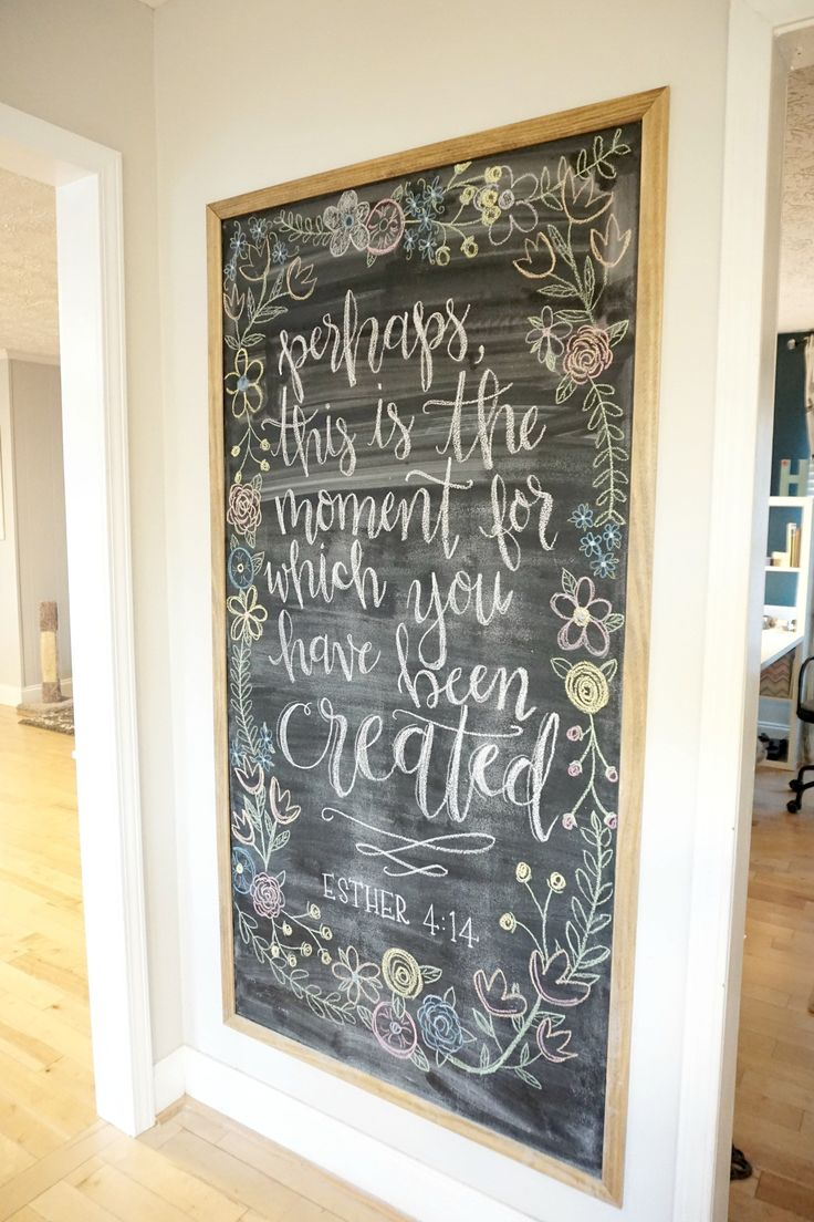 DIY: framed magnetic chalkboard
