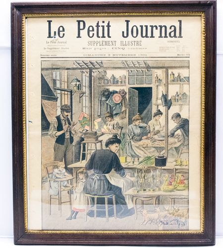 November 3, 1901 Issue Of Le Petit Journal Newspaper - Front Page Framed