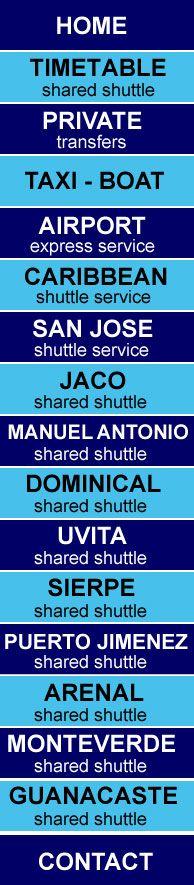 COSTA RICA SHUTTLE - COSTA RICA TRANSFERS - COSTA RICA TRANSPORTATION, COSTA RICA AIRPORT TAXI, COSTA RICA BUS TICKETS, COSTA RICA AIRPORT SHUTTLE - SAN JOSE AIRPORT SHUTTLE - DOMINICAL SHUTTLE - MANUEL ANTONIO SHUTTLE - LIBERIA AIRPORT SHUTTLE