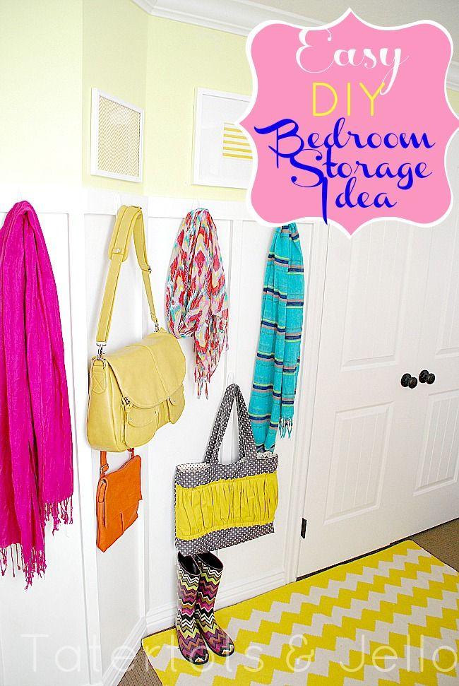 easy bedroom storage hooks: Easy Bedrooms, Bedroom Storage, Bedrooms Storage, Storage Hooks, Command Hooks, Back To Schools Organizations, Storage Ideas, Bedrooms Ideas, Extra Bedrooms