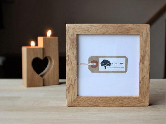 5x5 Wooden photo frames - 5x5 - square oak picture frames