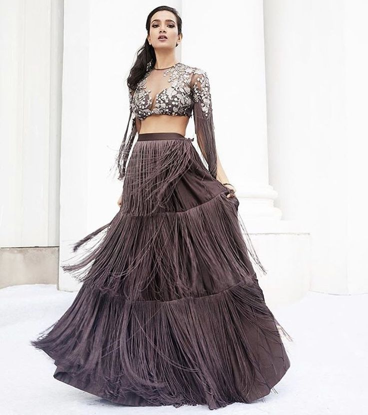 This @ridhimehraofficial #tassel #lehenga is perfect for the upcoming wedding season, and it's available in the @estecouture #sale , 7th April 2018!