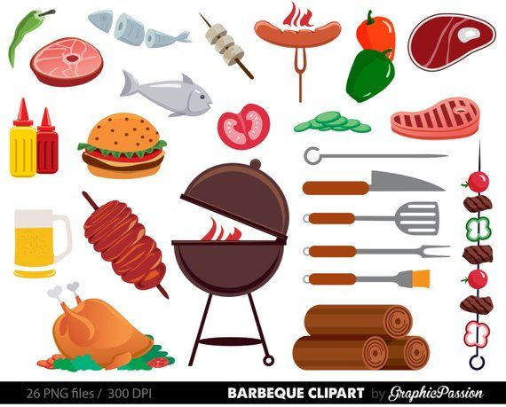 Food summer. Bbq clipart cookout barbeque