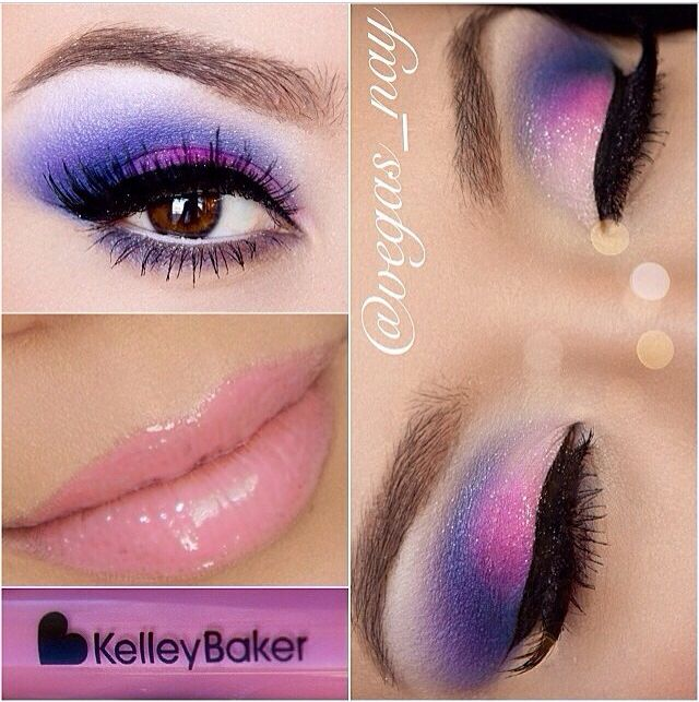 Maquillaje morados