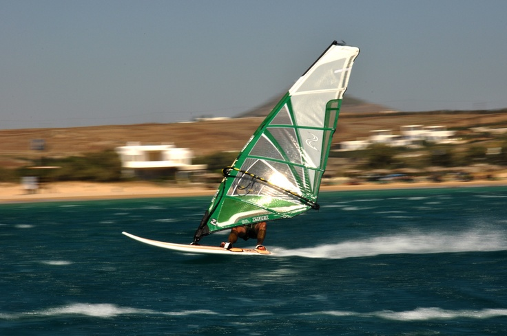 Wind and Sea by Alex Anagnostidis, via 500px windsurfing in 30 knots - Golden beach, Paros, Greece
