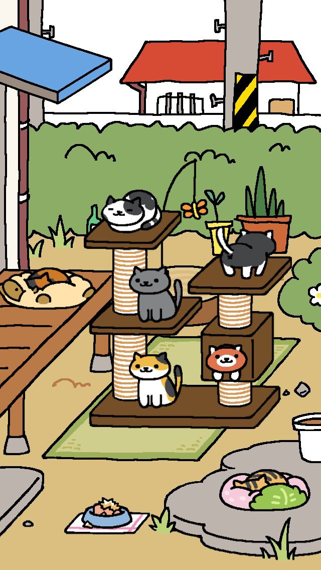 Neko Asumate Japanese cat collecting game phone app