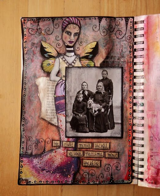 "Art Journal by *Silkku* ""Family"" silkkus.blogspot.fi"