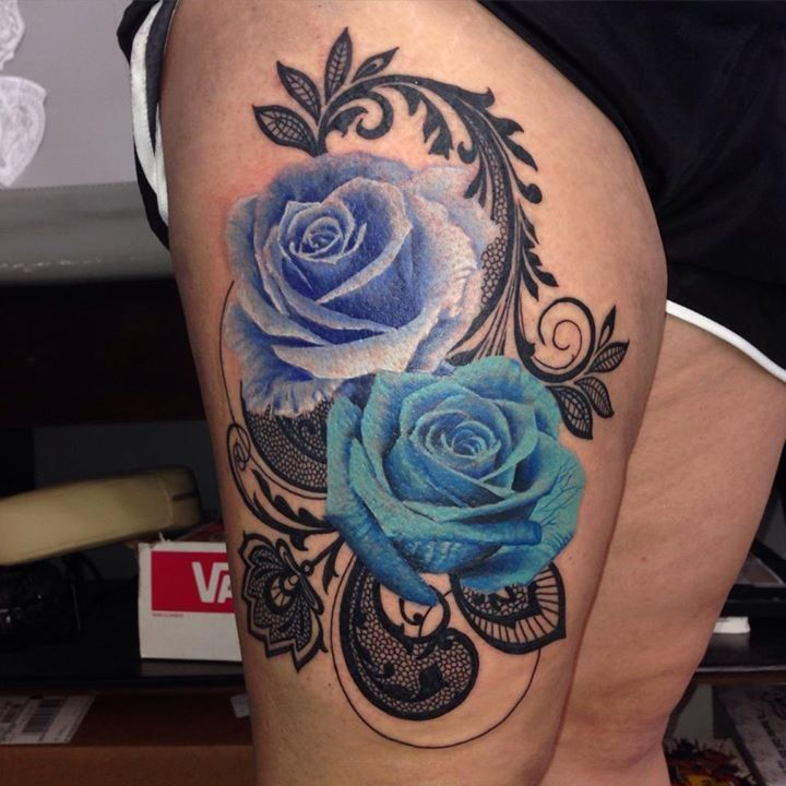 140 best roses tattoo images images on pinterest for Cherry bomb tattoo parlor perth