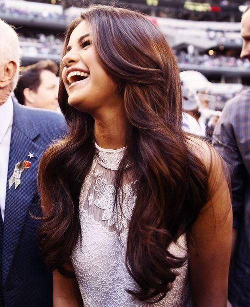 Her hair looks so thick and gorgeous!