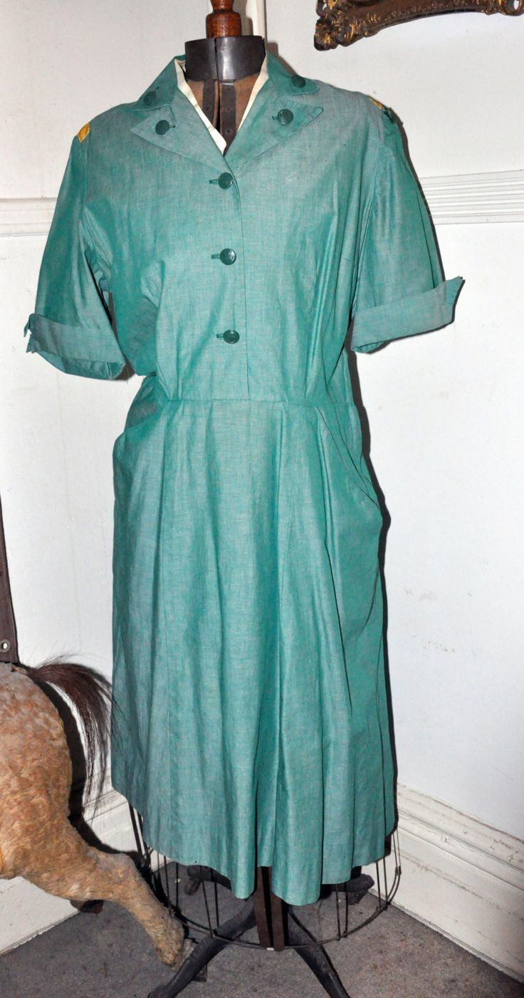 Vintage 1950s Mainbocher design Girl Scout Adult Leader Uniform.-- Free Shipping! by girlztown on Etsy