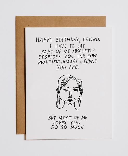 I despise  love you birthday card in 2019 BIRTHDAY CARDS