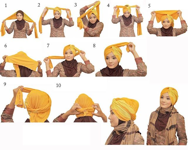 How to tie a turban. Might just fashion up my winter days with this.