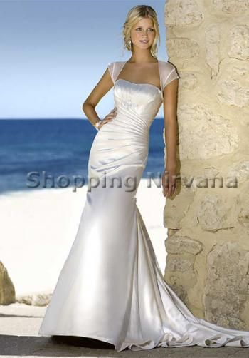 Sleeves for strapless gowns adding straps sleeves to a for Adding cap sleeves to a wedding dress