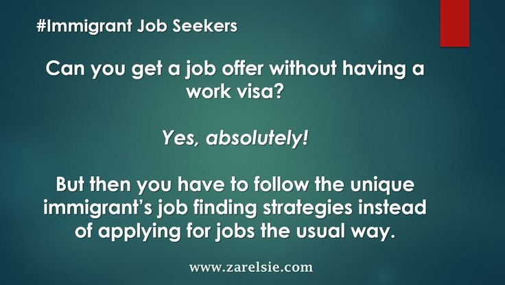 "It is that old ""catch-22"" situation – you need to have a job offer to qualify to immigrant and be issued a visa of some kind, but then, when you apply to jobs, you also get told by recruiters and some employers that you need to have a visa fist."