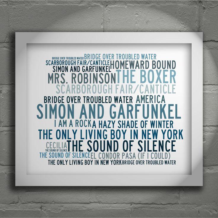 Lyric simon and garfunkel america lyrics : Simon and Garfunkel 'Crystalline' limited edition typography ...